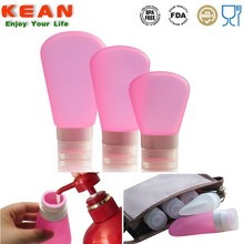 Non-toxic Flexible Travel Sized Refillable Silicon Bottle