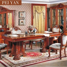 Factory cheap price and high quality extendable wood dining table set