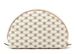 Half moon shape Vintage cosmetic bag;Graceful purse