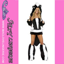 ML5252 Skunk Faux Fur Costume Sexy Animal disfraces de halloween por mayor de China