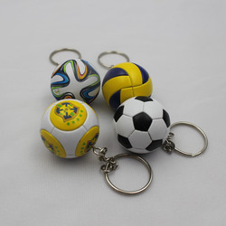 hot sale various designs mini 3d football keychains for wholesale