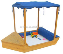 Wooden Garden Sailer Boat Sandbox / Kids Sandpit with Canopy