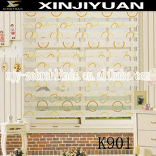 Printing zebra blind fabric window curtain blinds for interior decoration The colorful circle pattern