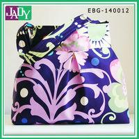Paradise Garden in Midnight Fabric Pleated Hobo Handbag