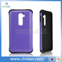 Double case for LG G2 hybird silicon case,pc with silicon phone case