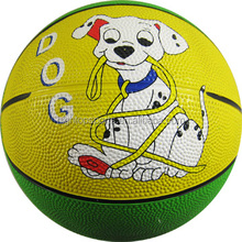 Mini size colorful rubber toy basketball for children