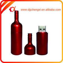 Red Plastic Bottle Shaped USB Flash Drive