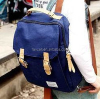 New Korean style fashion unisex canvas backpack rucksack school backpack for student