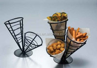 Wrought Iron Conical Chips Fast Food Appetizers Fries Basket Restaurant