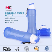 Wholesale good quality foldable monster energy silicone drink water bottle