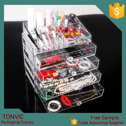 High Quality Acrylic Jewelry Makeup Display Organizer Case