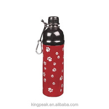 16oz Gear Stainless Steel Pet Water Bottle/Dog Cat Drinking water bottle/pet joyshaker bottle for drinking water