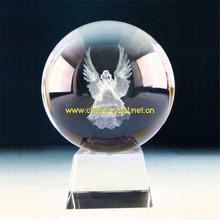souvenir glass cube/blocks gift 3d laser engraved crystal angel