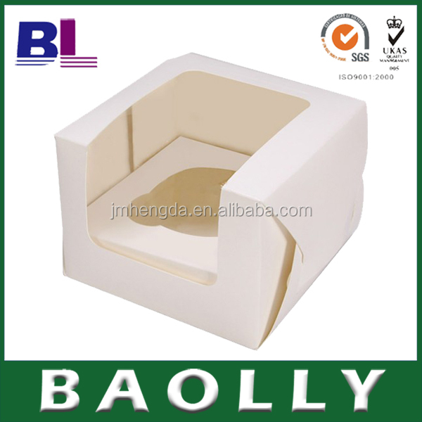 High Quality Recyclable Custom Foldable Mini Paper bag Baolly Cupcake Boxes