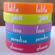 Custom Fashion Any size PVC silicon bracelet for Promotional gift