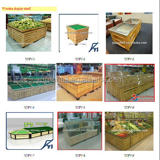 Good quality Two Tiers supermarket vegetable rack