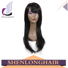 Shenlong hair hot sale long black straight hair wig, high quality japanese kanekalon fiber cosplay wig