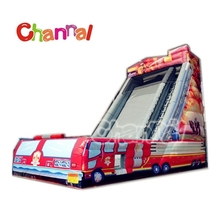 Fire truck giant inflatable slides for sale