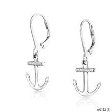 Wholesale Fashion Jewelry Silver Nautical Anchor Dangle Earrings