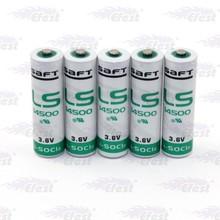 Original wholesale 14500 battery Saft LS 14500 battery Saft LS14500 3.6V AA Lithium battery(2pc)