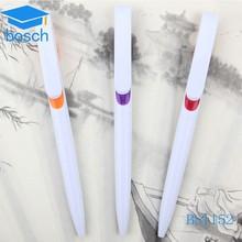 Customized promotion pen white pretty plastic balls hotsale plastic pen