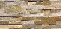 Yellow Slate Natural Stone Cultured Stone, Feature Wall Caldding Stacked Stone Veneer