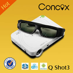 New home small full HD business beamer Q shot 3 with 2D to 3D from China excellent feedback projector manufacturer JIMI