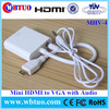 Shenzhen Factory vga to Mini HDMI adapter support audio