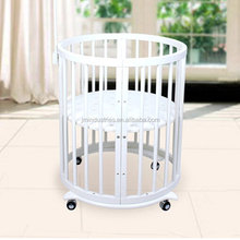 lightweight unfinished wooden baby cot