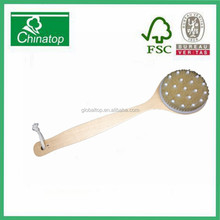 Dry Skin Body Brush with Natural Tampico Bristles & Long Handle, Fight Cellulite