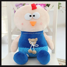 promotional cartoon toys of plush chicken toy