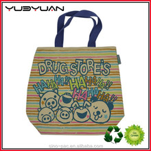 Hot selling popular design Promotional cheap printing handmade kids extra large folding polyester fabric shopping bag