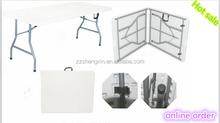 Brand New White Long Plastic Center Folding Bi-Fold Table