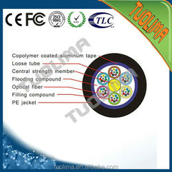 X Tuolima GYTA SM 96 Cores G.652D Networking Armor Fiber Optical Underground Direct Buried Cable