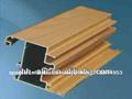 grano de madera perfil de aluminio para ventanas abatibles