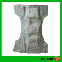 Plastic PE Film Back Sheet Elastic Waist Baby Diapers With Velcro Tape