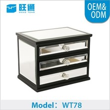 New plain Freshing simple valued clear decorative mirror jewelry box