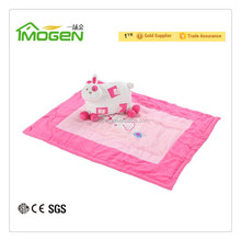 100% polyester embroidery baby quilt with jacquard rabbit pillow