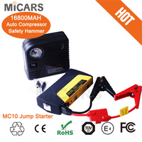 portable with compressor car jump starter battery booster pack