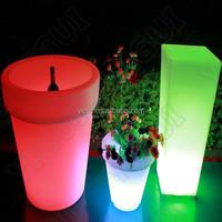Garden Flower Pot LED Light Up Outdoor Furniture/Plastic LED Flowe Vase/Holder/garden pot