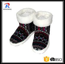 Ladies Custom Fur Fleece Warm Shoes Slipper