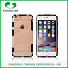 Free sample custom phone case 8 colors TPU PC 2 in 1 dual layer combo case for Apple iphone 6 / 6 plus with kickstand