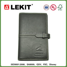 leather personal travel planner organizer with ring binder