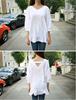 2015 Casual V-Neck Female sweet ladies' cotton&women&short sleeve shirt&blouse