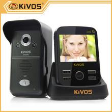 Zwave wireless video door phone kivos kdb300 wireless video door phone