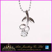 flower shape plant style 925 silver pendant