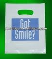 venta caliente bolsa de plástico transparente con agujero de la caída