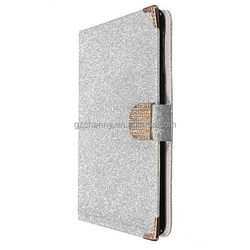 New Luxury Bling Glitter Flip Magnetic Wallet Stand Card Cover Leather Case For ipad Mini Mini 2
