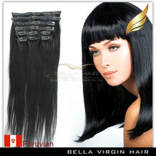 double drawn clip in hair extension,