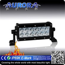 AURORA 6inch led light bar light hid led police motorcycle light